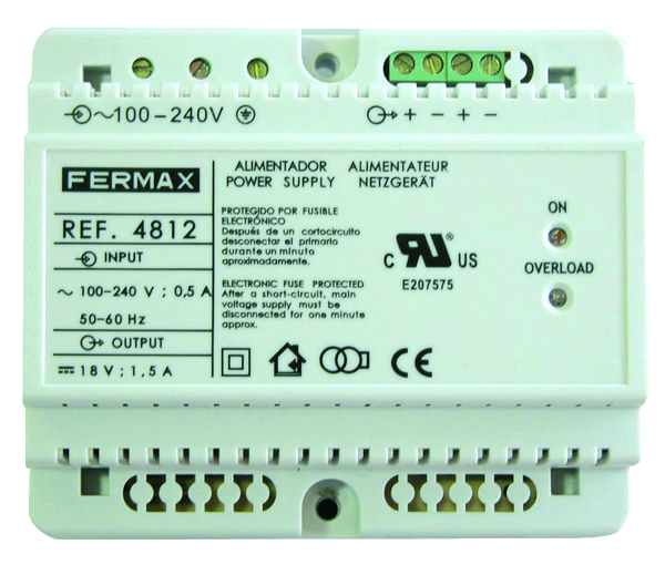 Блок питания DIN6 100-240 Vac/18Vdc - 1.5 A