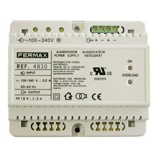 Блок питания DIN.6 100-240VAC/18VDC-3,5A