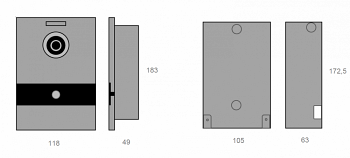 MEET врезной монтажный короб одноабонентной панели вызова